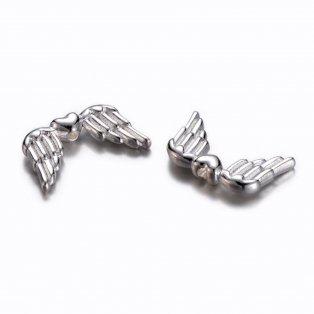 Andělská křídla - stříbrná - 18,5 x 11 x 3,5 mm - 1 ks