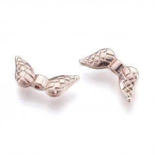 Andělská křídla - růžově zlatá - 18 x 8 x 3 mm - 1 ks