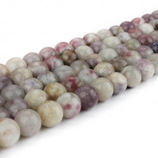 Přírodní fialový turmalín - ∅ 8 mm - 1 ks