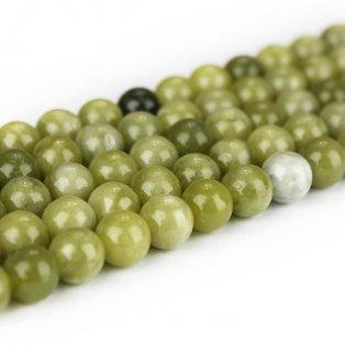 Přírodní olivín - ∅ 8 mm - 1 ks