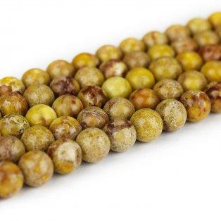 Přírodní regalit - žlutý - ∅ 8 mm - 1 ks