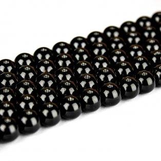 Přírodní černý turmalín - ∅ 6 mm - 1 ks