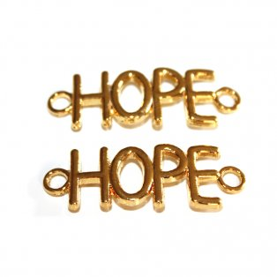 HOPE - zlatý - 33 x 12 x 3 mm - 1 ks