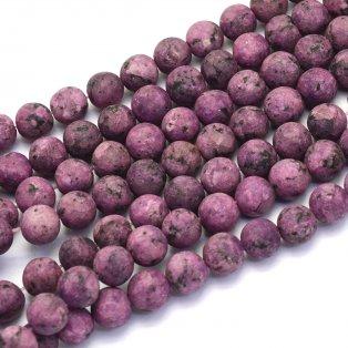 Přírodní bláznivý achát - lilkový - matný - ∅ 8 mm - 1 ks
