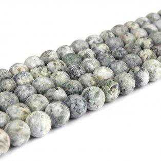 Přírodní bláznivý achát - zelenošedý - matný - ∅ 8 mm - 1 ks