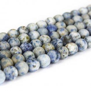 Přírodní bláznivý achát - modrý - matný - ∅ 8 mm - 1 ks