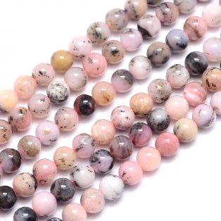 Přírodní růžový opál - ∅ 6 mm - 1 ks