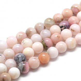 Přírodní růžový opál - třída AB - ∅ 4 mm - 1 ks