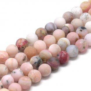 Přírodní růžový opál - matný - ∅ 6 mm - 1 ks