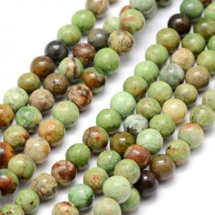Přírodní zelený opál - ∅ 6 mm - 1 ks