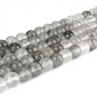 Přírodní šedý křemen - ∅ 8 mm - 1 ks