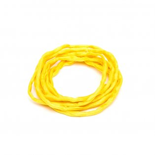 Habotai - hedvábné vlákno - žluté - ∅ 3 mm - 1 m - 1 ks
