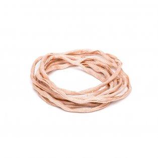Habotai - hedvábné vlákno - světle růžové - ∅ 3 mm - 1 m - 1 ks