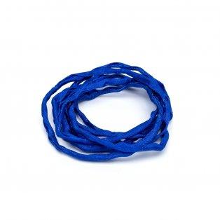 Habotai - hedvábné vlákno - tmavě modré - ∅ 3 mm - 1 m - 1 ks