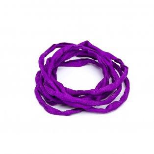 Habotai - hedvábné vlákno - fialové - ∅ 3 mm - 1 m - 1 ks