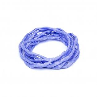 Habotai - hedvábné vlákno - šeříkové - ∅ 3 mm - 1 m - 1 ks