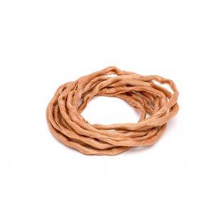 Habotai - hedvábné vlákno - karamelové - ∅ 3 mm - 1 m - 1 ks