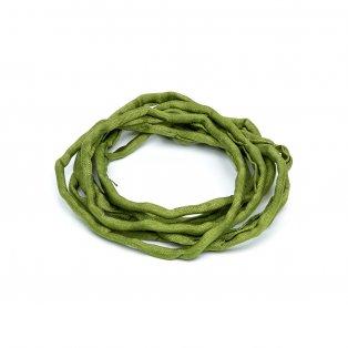 Habotai - hedvábné vlákno - olivové - ∅ 3 mm - 1 m - 1 ks