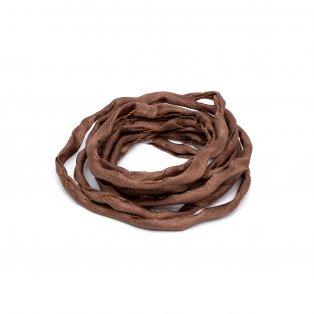 Habotai - hedvábné vlákno - hnědé - ∅ 3 mm - 1 m - 1 ks