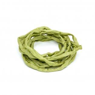 Habotai - hedvábné vlákno - světle zelené - ∅ 3 mm - 1 m - 1 ks