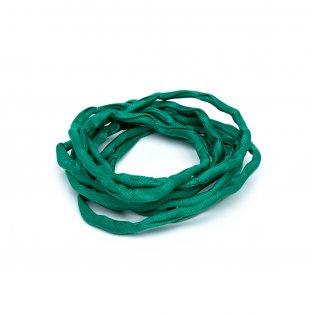 Habotai - hedvábné vlákno - zelené - ∅ 3 mm - 1 m - 1 ks