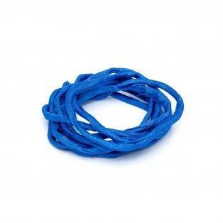 Habotai - hedvábné vlákno - modré - ∅ 3 mm - 1 m - 1 ks