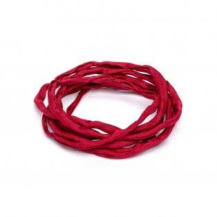 Habotai - hedvábné vlákno - červené - ∅ 3 mm - 1 m - 1 ks