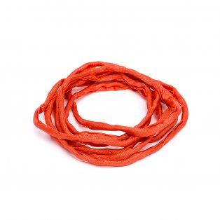 Habotai - hedvábné vlákno - korálové - ∅ 3 mm - 1 m - 1 ks