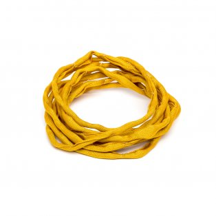 Habotai - hedvábné vlákno - jantarové - ∅ 3 mm - 1 m - 1 ks