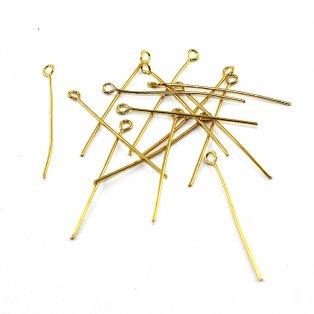 Ketlovací jehly - zlaté - cca 3,6 cm - 10 ks