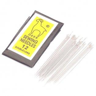 Železné navlékací jehly - 40 x 0,45 mm - oko 0,3 mm - 25 ks