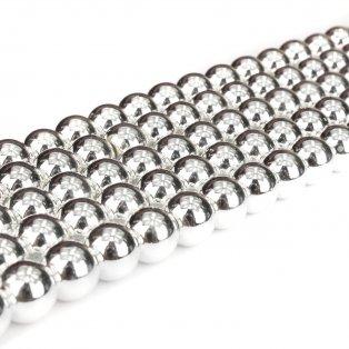 Syntetický hematit - stříbrný - ∅ 8 mm - 1 ks