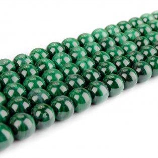Přírodní malachit - ∅ 6 mm - 1 ks