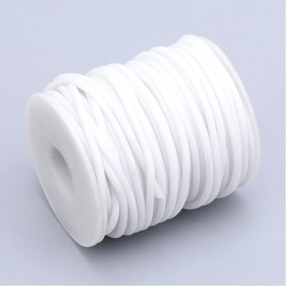 Pryžová šňůra - bílá - ∅ 2 mm - 1 m