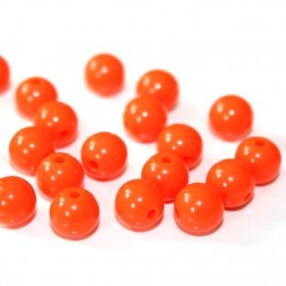 Akrylové korálky - oranžové - ∅ 8 mm - 10 ks