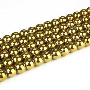 Syntetický hematit - zlatý - třída A - ∅ 10 mm - 1 ks
