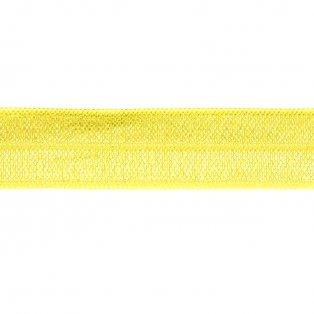 Elastická stuha - žlutá - 1,5 cm - 30 cm - 1 ks