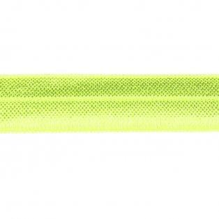 Elastická stuha - neonově žlutá - 1,5 cm - 30 cm - 1 ks