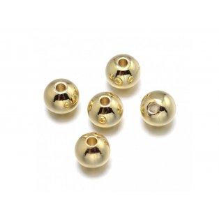 Mosazný korálek - zlatý - ∅ 2,5 mm - 1 ks