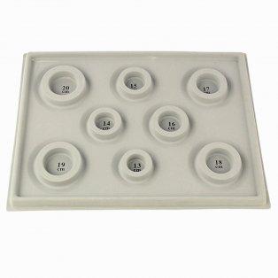 Plastová vzorovací podložka na výrobu náramků - šedá - 34,7 x 26 x 1,8 cm - 1 ks