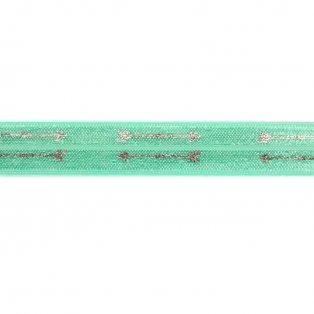 Elastická stuha - mátová - šíp - 1,5 cm - 30 cm - 1 ks