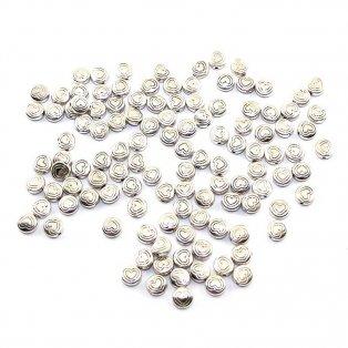 Kovové srdce - stříbrné - 7 x 7 x 3 mm - 1 ks