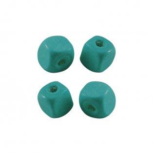 Dřevěné korálky - kostky - modré - 10 x 10 x 10 mm - 50 g