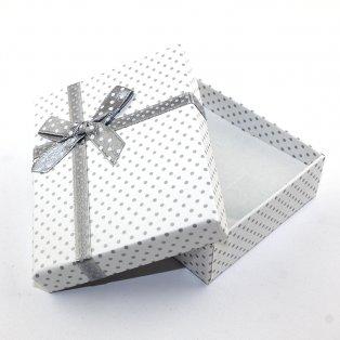 Dárková krabička - bílá - 90 x 70 x 30 mm - 1 ks