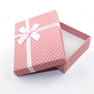 Dárková krabička - růžová - 90 x 70 x 30 mm - 1 ks