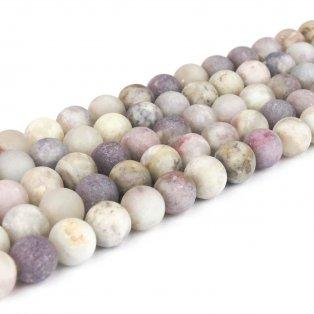 Přírodní fialový turmalín - matný - ∅ 8 mm - 1 ks
