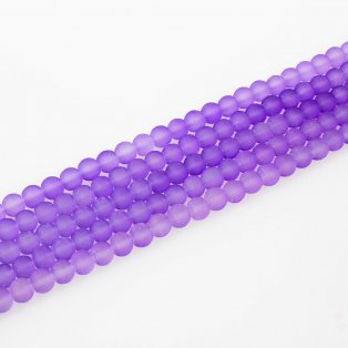 Matné korálky - světle fialové - ∅ 6 mm - 10 ks