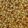 Mosazný korálek s širokým průvlekem - zlatý -  7 x 9 x 5 mm - 1 ks