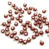 Kovový přívěsek - zlatý - červené Evil eye - 9 x 7 x 5 mm - 1 ks