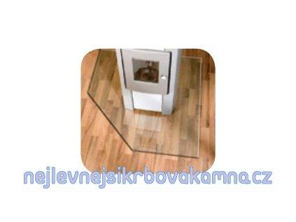 Lienbacher sklo pod kamna 125X125 cm